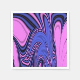 青く、ピンクの北極の芸術 スタンダードカクテルナプキン