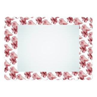 青く、ピンクの図解入りの、写真付きのな花はセットをカスタマイズ カード