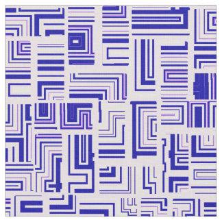 青く、ピンクの当惑パターン ファブリック
