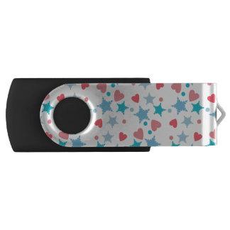 青く、ピンクの紙吹雪 USBフラッシュドライブ