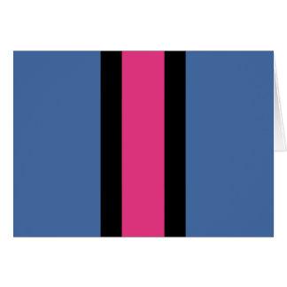 青く、ピンク、黒いストライプの カード