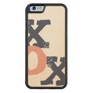 青く、ピンクXOXの結婚式 CarvedメープルiPhone 6バンパーケース