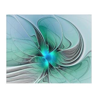 青く、モダンなフラクタルの芸術の抽象芸術 アクリルウォールアート
