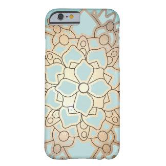 青く、模造のな金ぱくのはすの花 iPhone 6 ベアリーゼアケース