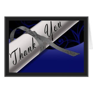 青く、銀製の免状は感謝していしています ノートカード