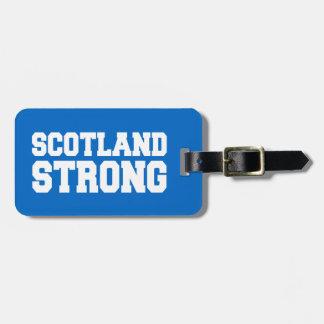 青で独立したスコットランドの国民投票スコットランド ラゲッジタグ