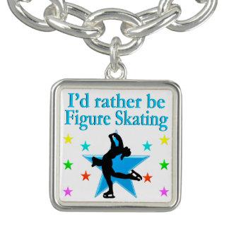 青によってすごい星芒状白斑のスケート選手 ブレスレット