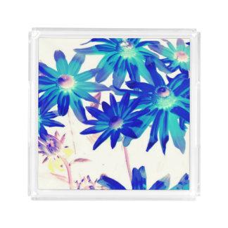 青によっては小さい香水の皿が開花します アクリルトレー