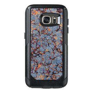 青によって大理石模様をつけられるEndpaper オッターボックスSamsung Galaxy S7ケース