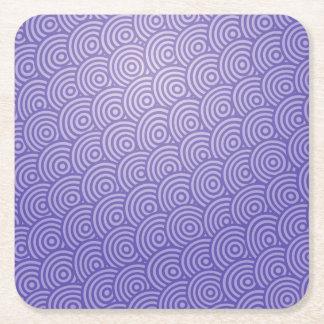 青によって描かれる円興味深いパターンデザイン スクエアペーパーコースター