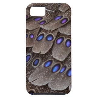 青によって斑点を付けられるキジの羽 iPhone SE/5/5s ケース