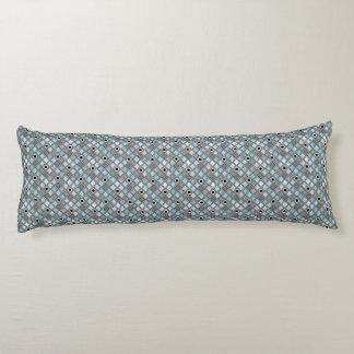 青によって曲げられるダイヤモンドの道化師パターン ボディピロー
