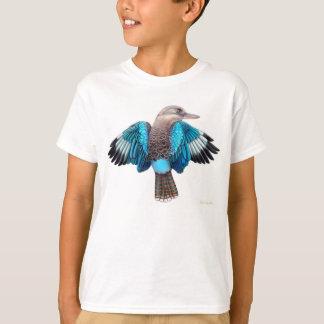 青によって飛ぶKookaburraはTシャツをからかいます Tシャツ