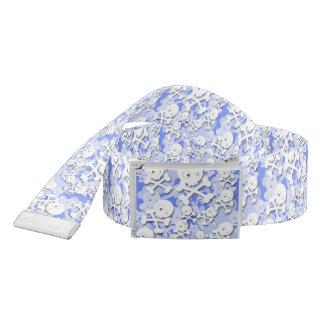 青のかわいいスカルのデザイン ベルト