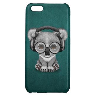 青のかわいいベビーのコアラDjの身に着けているヘッドホーン iPhone 5C Case