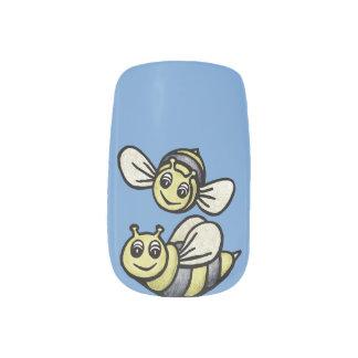 青のかわいい《昆虫》マルハナバチの組 ネイルアート