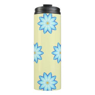 青のはすの花の花柄のタンブラーを絵を描くこと タンブラー
