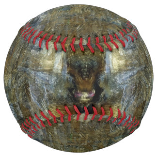 青のぴかぴか光る茶色 ソフトボール