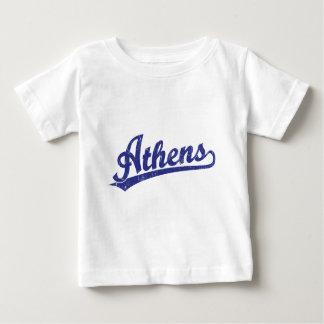 青のアテネの原稿のロゴ ベビーTシャツ