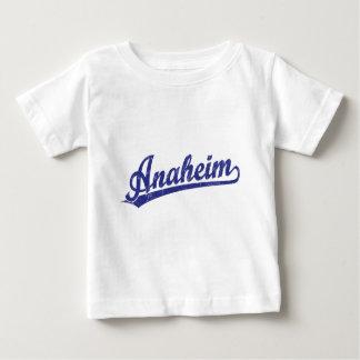 青のアナハイムの原稿のロゴ ベビーTシャツ