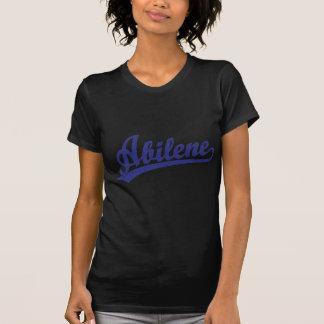 青のアビリンの原稿のロゴ Tシャツ