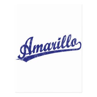 青のアマリロの原稿のロゴ ポストカード