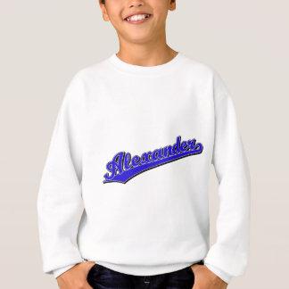 青のアレキサンダー スウェットシャツ