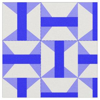 青のアーカンソーの旅行者のパッチワークのデザイン ファブリック