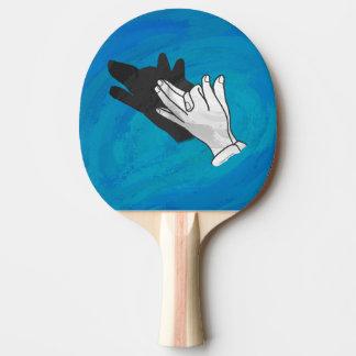 青のオオカミの影 卓球ラケット