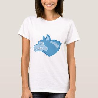 青のオオカミ Tシャツ
