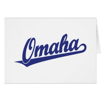 青のオマハの原稿のロゴ カード