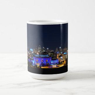 青のカンザスシティ連合場所 コーヒーマグカップ