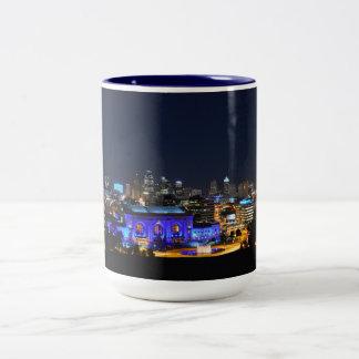 青のカンザスシティ連合場所 ツートーンマグカップ