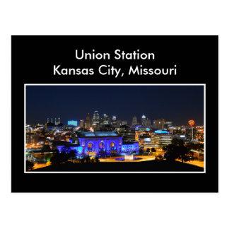 青のカンザスシティ連合場所 ポストカード