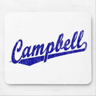 青のキャンベル原稿のロゴ マウスパッド