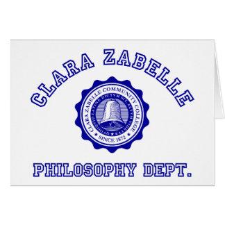 青のクララZabelleの大学頂上 カード