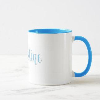 青のクリスティーンのマグ マグカップ