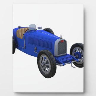 青のグランプリのレースカー フォトプラーク