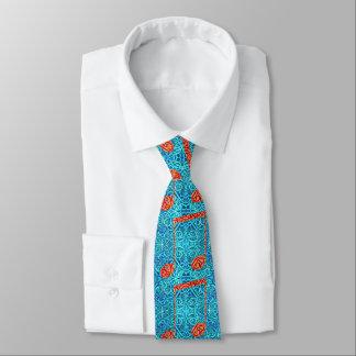 青のコイルおよび音符 ネクタイ