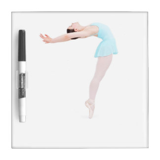 青のコンテンポラリーなバレエダンサー ホワイトボード