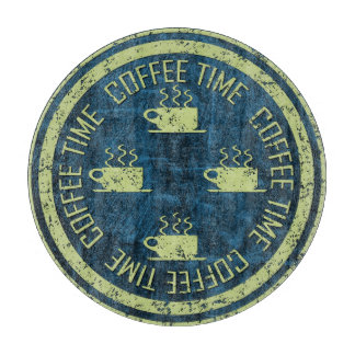 青のコーヒー時間ライムグリーン カッティングボード