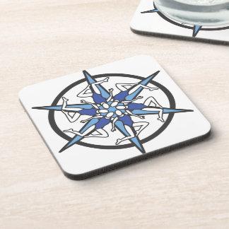 青のシンクロナイズドスイミングの円のロゴ コースター