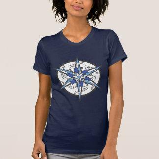 青のシンクロナイズドスイミングの円のロゴ Tシャツ