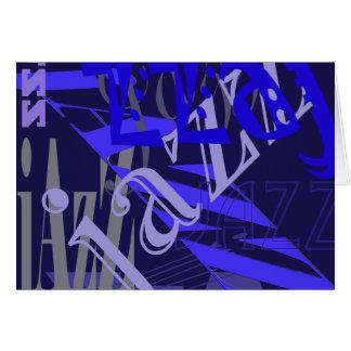 青のジャズ青 カード