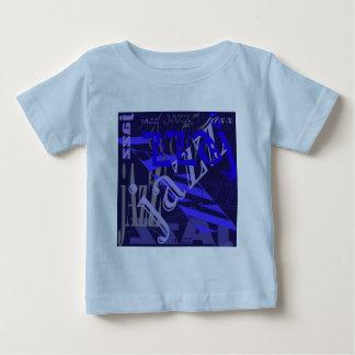 青のジャズ青 ベビーTシャツ