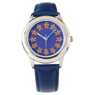 青のジンジャーブレッドのクッキー 腕時計