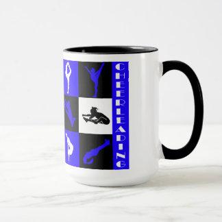 青のチアリーダーをするブロックのマグ マグカップ