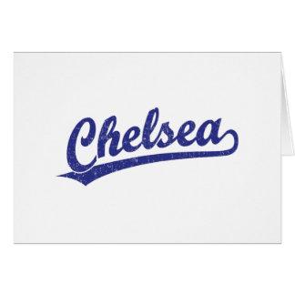 青のチェルシーの原稿のロゴ カード