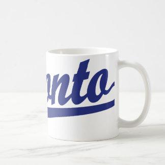 青のトロントの原稿のロゴ コーヒーマグカップ