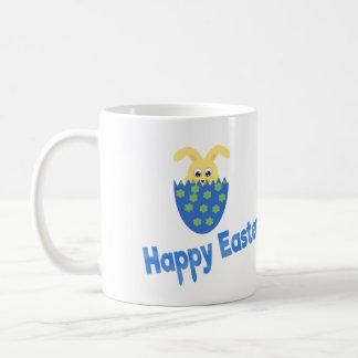 青のハッピーイースター コーヒーマグカップ